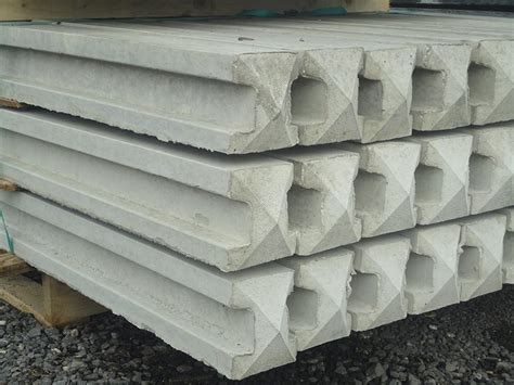 Intermediate Slotted Smooth White Concrete Post - 8ft ...