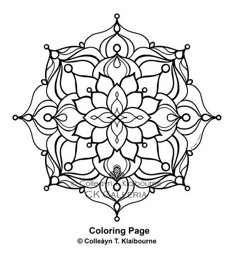 mandala  digital  coloring page expression