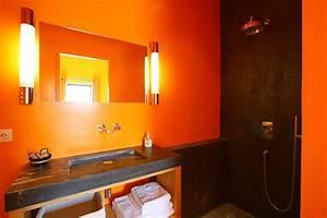 Salle De Bain Orange : d coration salle de bain orange ~ Preciouscoupons.com Idées de Décoration