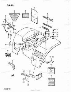 Suzuki Atv 1991 Oem Parts Diagram For Rear Fender  Model H