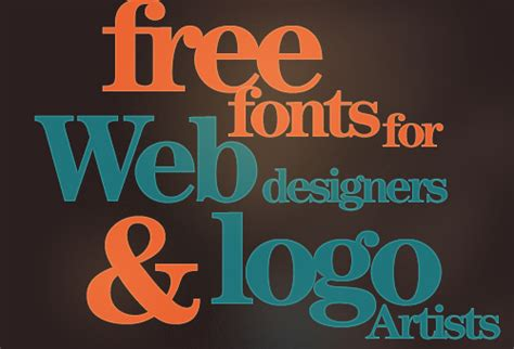 104 free fonts for web designers and logo artists instantshift