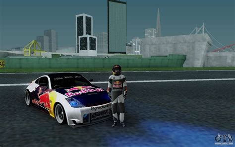 Nissan 350z Red Bull For Gta San Andreas