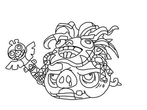 Angry Birds Epic Kleurplaat by Angry Birds Epic Coloring Page Witch Doctor Pig My
