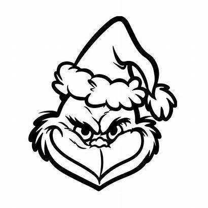 Grinch Face Hat Santa Clipart Coloring Clip