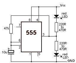 Timer Led Flasher Circuit Diagram World