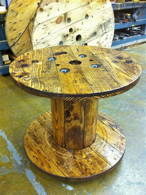 cable spool coffee table wooden spool tables spool