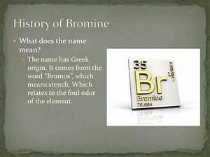 Bromine  Amber Boyers