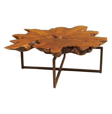teak root coffee table harrer rustic lodge teak root iron abstract coffee table
