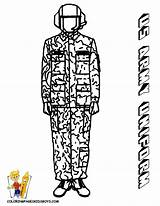 Army Coloring Uniform Pages Soldier Military Printable Soldiers Female Boys Combat Yescoloring Noble sketch template