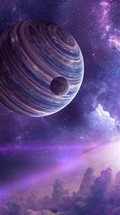 Space Universe Iphone Outer Purple Atmosphere Sky