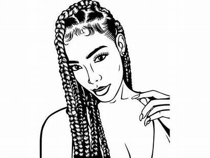 Svg Afro Woman Dreads Princess Queen Nubian