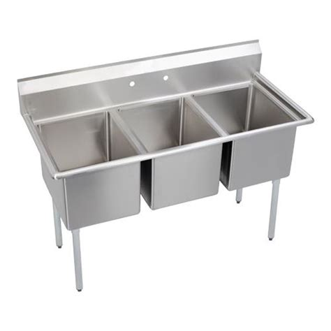 three compartment kitchen sink elkay 3c18x18 0x 63 in 3 compartment sink etundra 6107