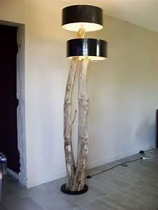 Lampe Design Bois : lampes et miroirs bois flott bois flott design et cr ation ~ Teatrodelosmanantiales.com Idées de Décoration