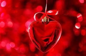 Wallpaper Love heart, Pendant, Red, Bokeh, 5K, Love, #11955