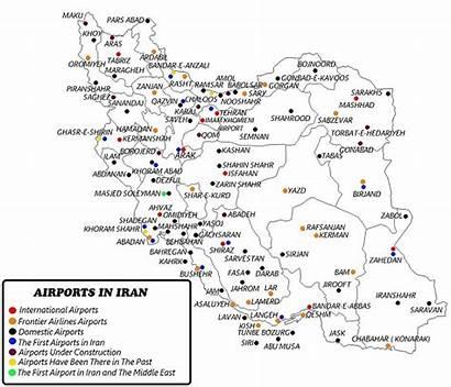 Iran Airports Map Friendlyiran Aviation Organization Wikipedia