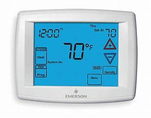 Emerson Low Voltage Thermostat  Stages Cool 2  Stages Heat