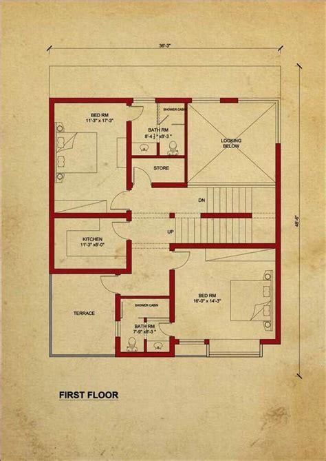 house floor plan   design estate  marla house  images house plans  story