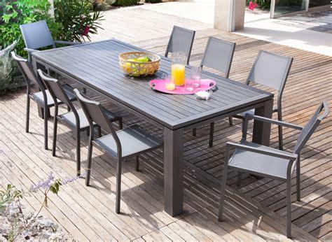 ensemble table et chaises de jardin salon de jardin avec grande table promotion proloisirs