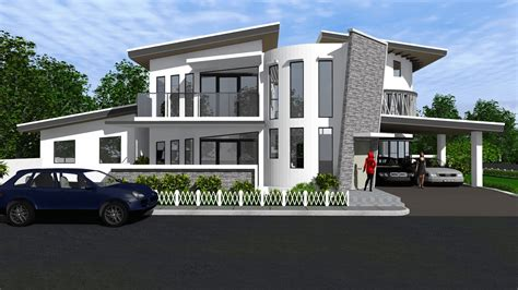 Design Of Two Storey Residential House  Home Design And Style