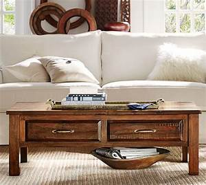 bowry reclaimed wood coffee table pottery barn With bowry bed pottery barn