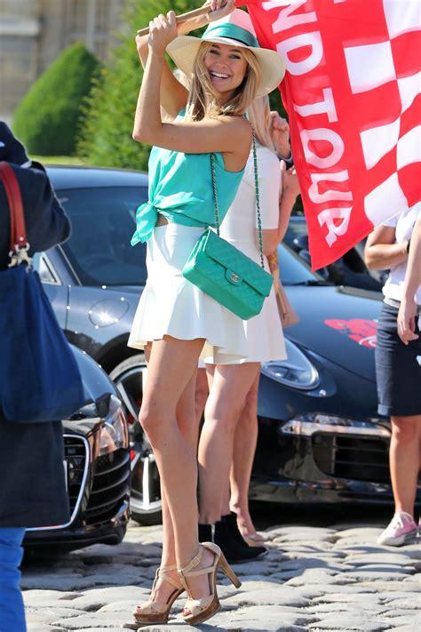 kimberley garner  mini skirt   grand  race