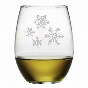 Snowflake, Cluster, Stemless, Wine, Glasses