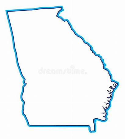 Georgia Map Clipart Illustration State Ga Peach
