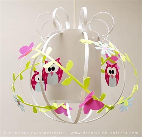 lustre pour chambre bébé suspension chouette casse noisette fabrique des hiboux