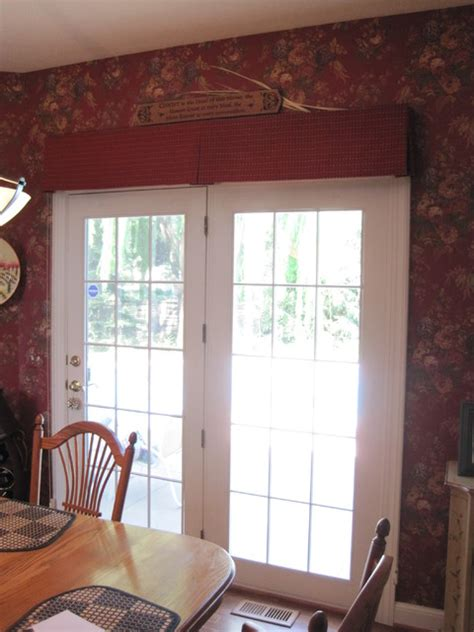 box pleated valance doors traditional by