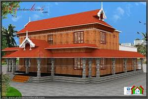 TRADITIONAL KERALA STYLE HOUSE PLAN WITH TWO ELEVATIONS ...