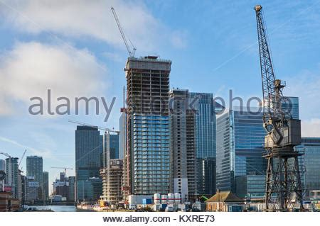london docklands redevelopment building site ready mix