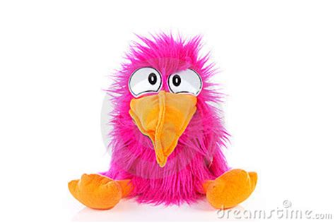 funny pink bird puppet royalty  stock  image