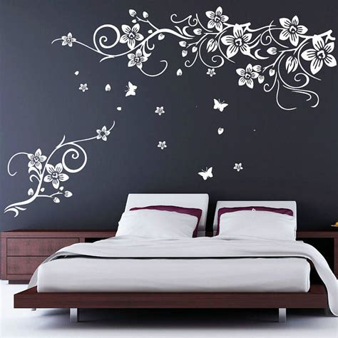 flower and butterfly vine wall stickers by parkins interiors notonthehighstreet com