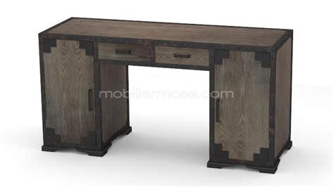 bureau d angle en bois bureau de style industriel chicago en bois et métal