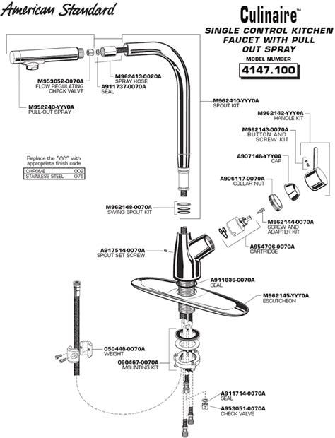 american standard kitchen faucet parts diagram plumbingwarehouse com american standard commercial