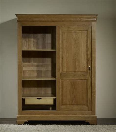Armoire Chene Massif Portes Coulissantes by Armoire 2 Portes Jean Baptiste En Ch 234 Ne Massif Portes
