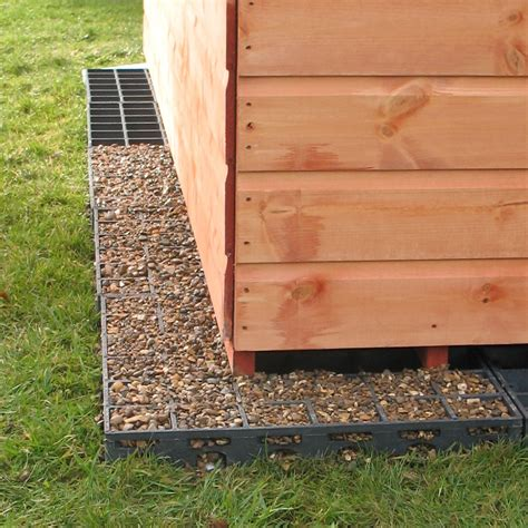 ecobase shed base pea gravel   french drains
