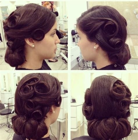 1940s Wedding Hairstyles by 1940 S Updo Vintage Sally Toni 1940s Wedding