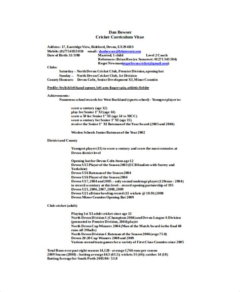 Coaches Resume by Coach Resume Template 7 Free Word Excel Documents Free Premium Templates