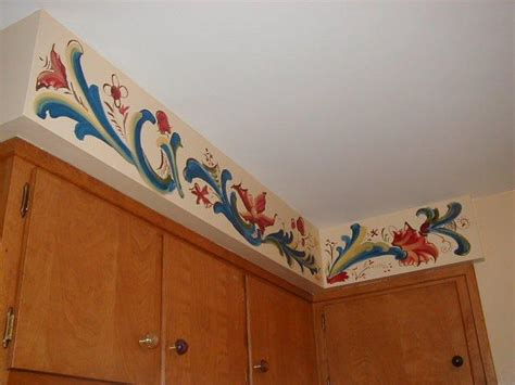 Kitchen Soffit Painting Ideas by Rosemaling Border Rosemaling Telemark