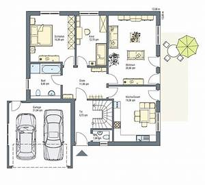 Haus Grundriss Ideen Einfamilienhaus : einfamilienhaus mit integrierter doppelgarage grundriss ~ Lizthompson.info Haus und Dekorationen