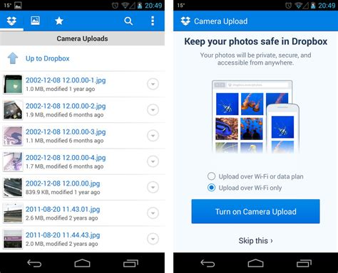 dropbox app for android how to transfer data from your android tablet to your