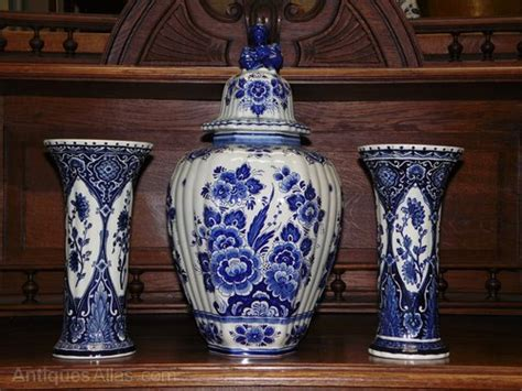 antiques atlas vintage delft blue ginger vases