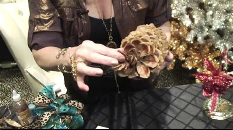 how to diy pinecone christmas ornaments by donna moss