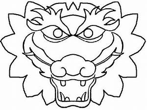 chinese dragon boat festival coloring pages family With chinese dragon face template