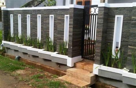 Merk Cat Tembok Pagar Luar 25 model pagar tembok minimalis terbaru modern rumah impian