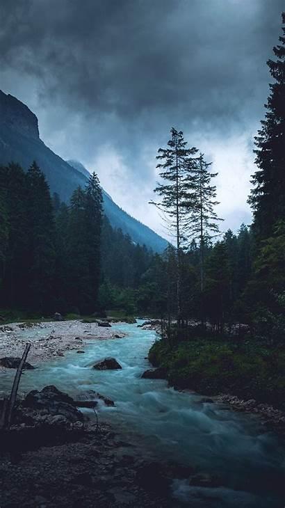 Nature Dark River Wood Night Mountain Np32