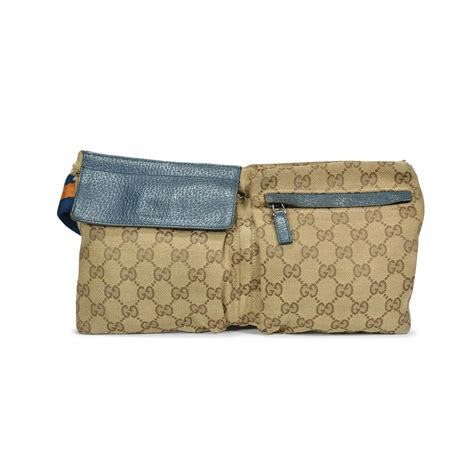 authentic  hand gucci monogram belt bag pss