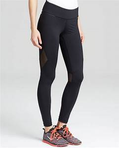 Alala Leggings - Mesh Panel Ankle in Black | Lyst