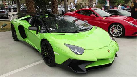 lamborghini aventador sv roadster green verde ithaca lamborghini aventador sv roadster youtube